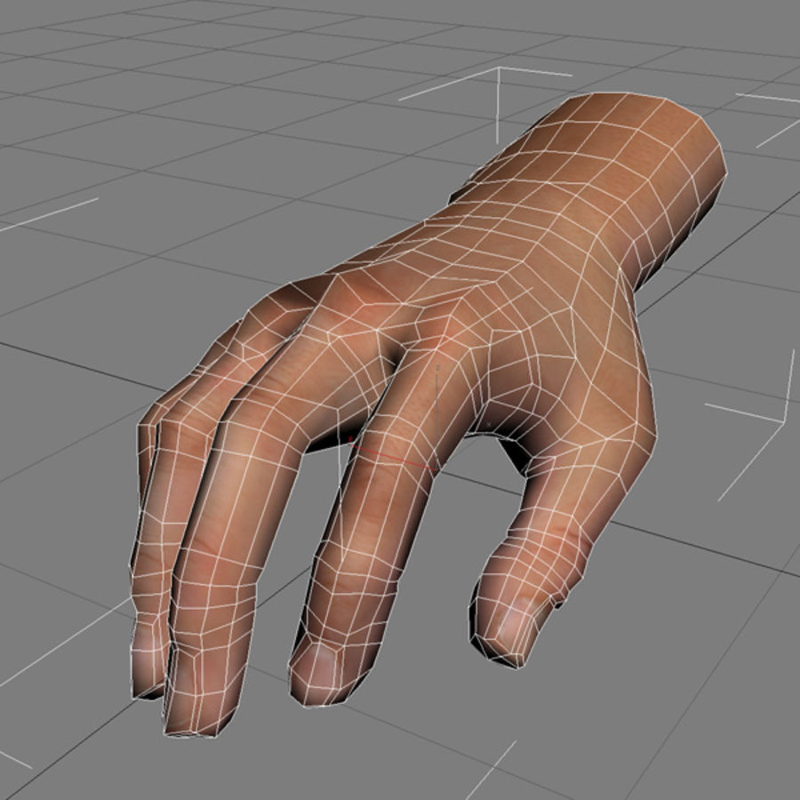 Hand opgetuigd royalty-free 3d model - Preview no. 12