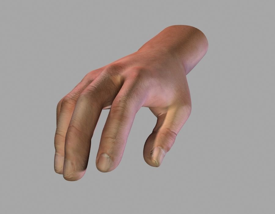 Hand opgetuigd royalty-free 3d model - Preview no. 10
