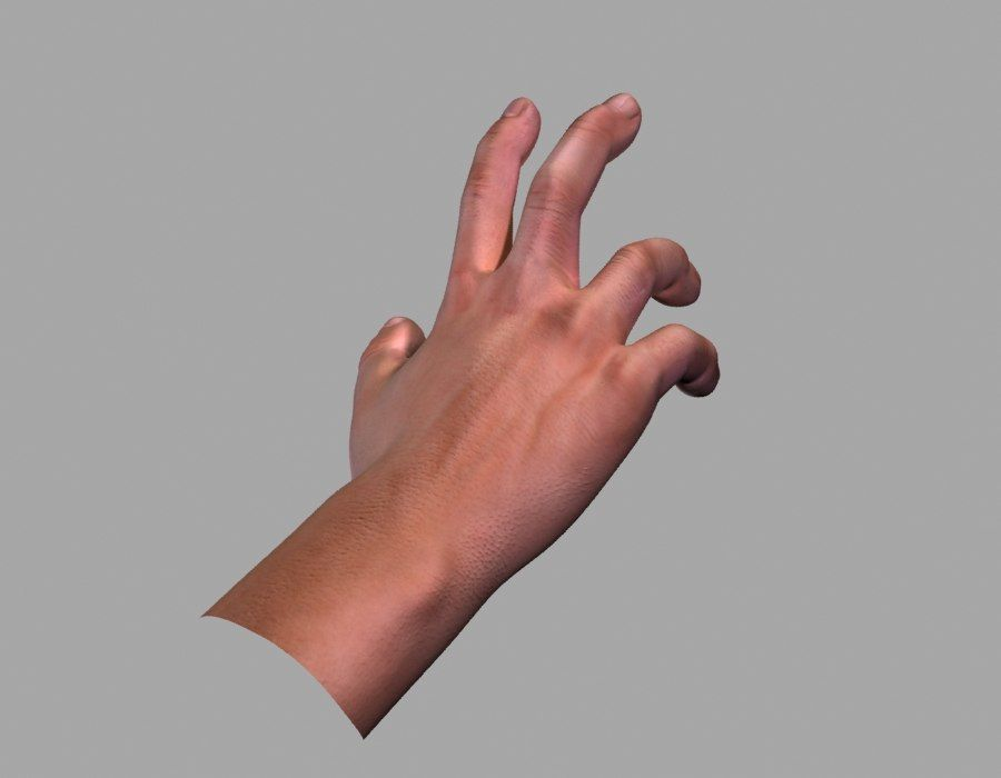 Hand opgetuigd royalty-free 3d model - Preview no. 9