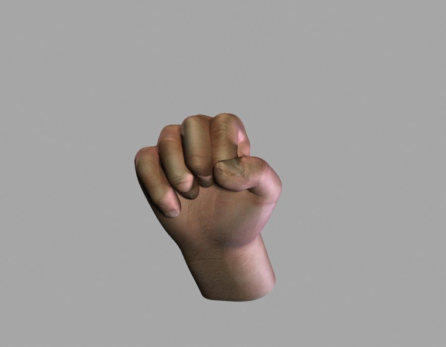 Hand opgetuigd royalty-free 3d model - Preview no. 4