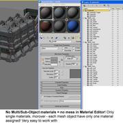 Sci fi City Set 8 Futuristic 3d model