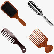 Hair Brush Collection 3d model