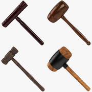 Wooden Mallet Collection 3d model