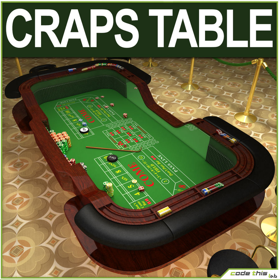 Table Casino - Craps Table royalty-free 3d model - Preview no. 1