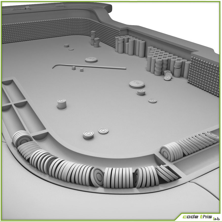 Table Casino - Craps Table royalty-free 3d model - Preview no. 13