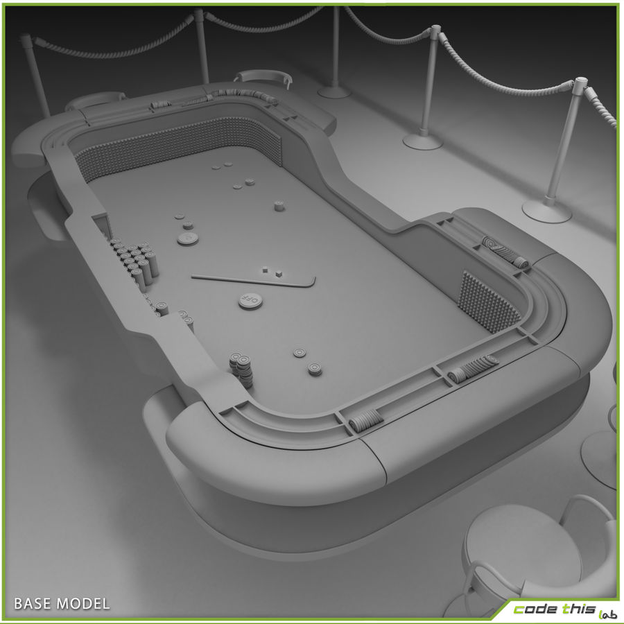 Table Casino - Craps Table royalty-free 3d model - Preview no. 7