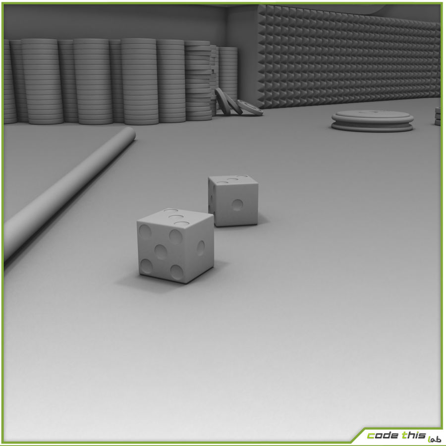 Table Casino - Craps Table royalty-free 3d model - Preview no. 9