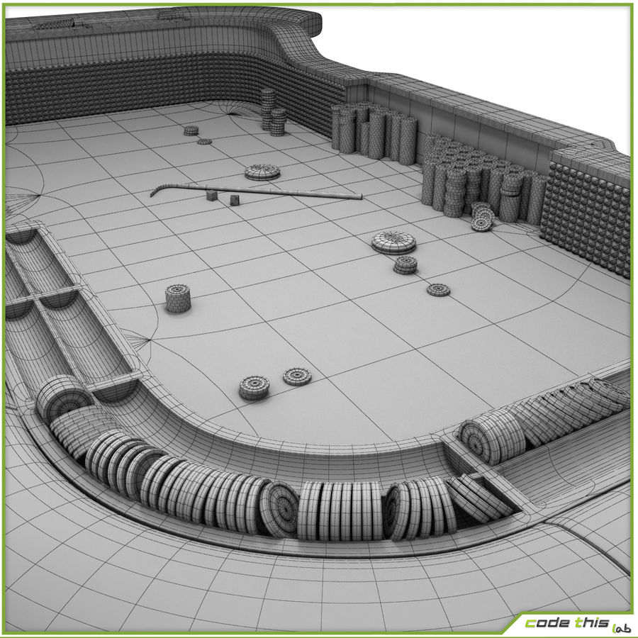 Table Casino - Craps Table royalty-free 3d model - Preview no. 12