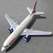 737 - 500 British Airways 3d model