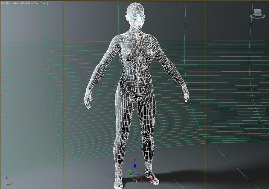 женщина royalty-free 3d model - Preview no. 21