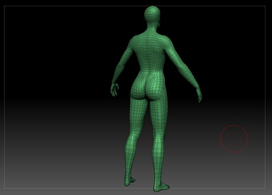 женщина royalty-free 3d model - Preview no. 29