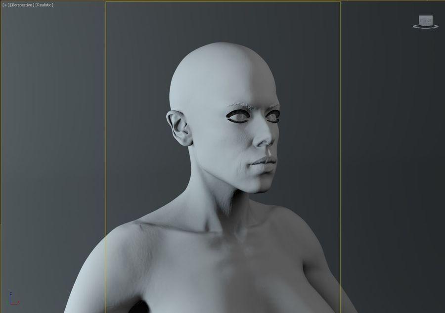 женщина royalty-free 3d model - Preview no. 16