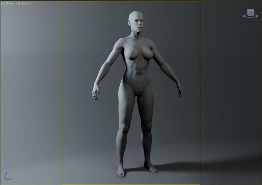 женщина royalty-free 3d model - Preview no. 13