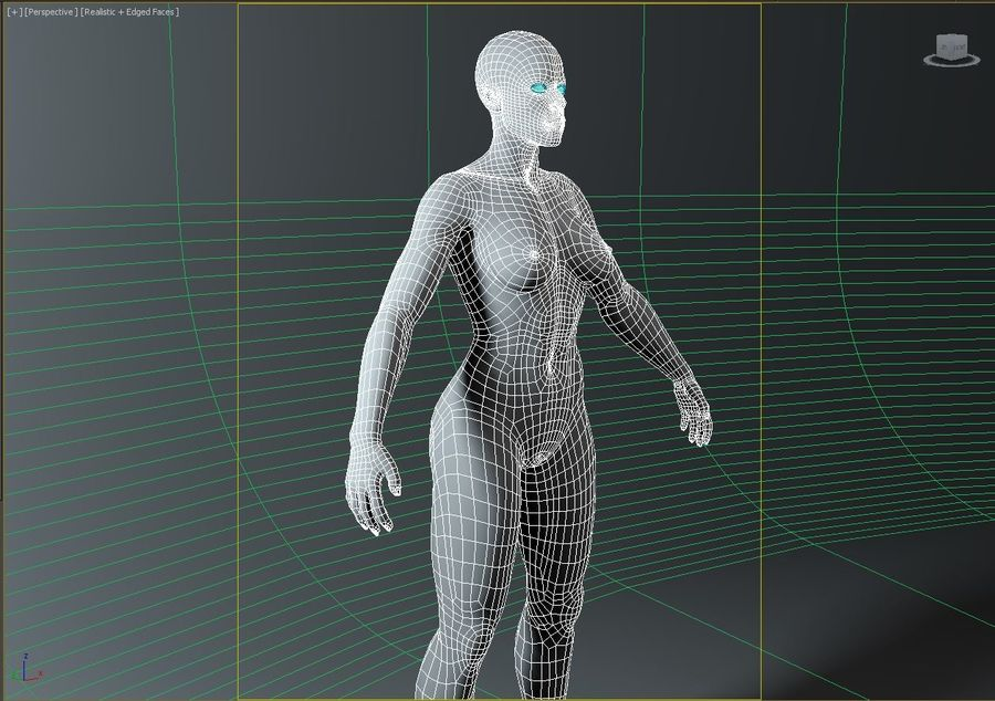 женщина royalty-free 3d model - Preview no. 19