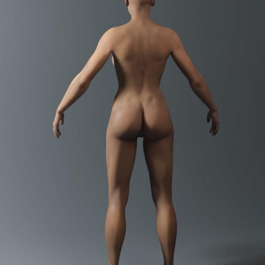 женщина royalty-free 3d model - Preview no. 10