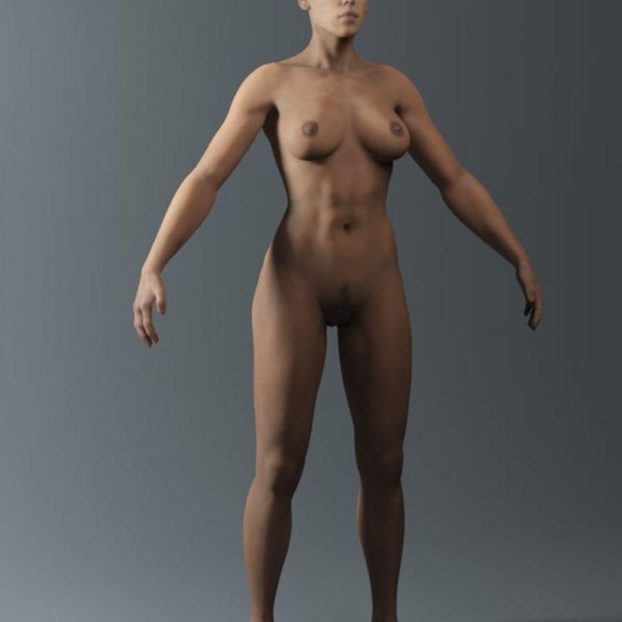 женщина royalty-free 3d model - Preview no. 7