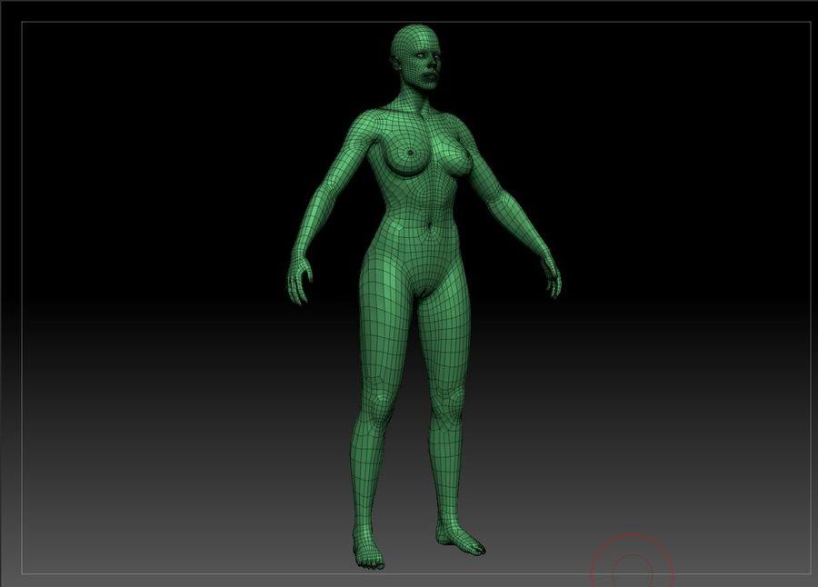 женщина royalty-free 3d model - Preview no. 30