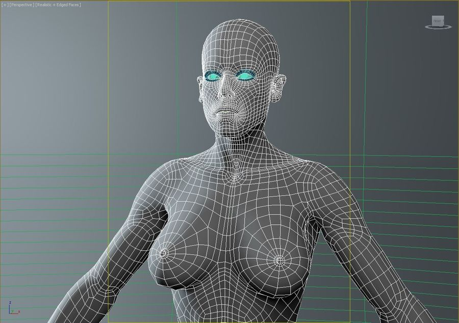 женщина royalty-free 3d model - Preview no. 18