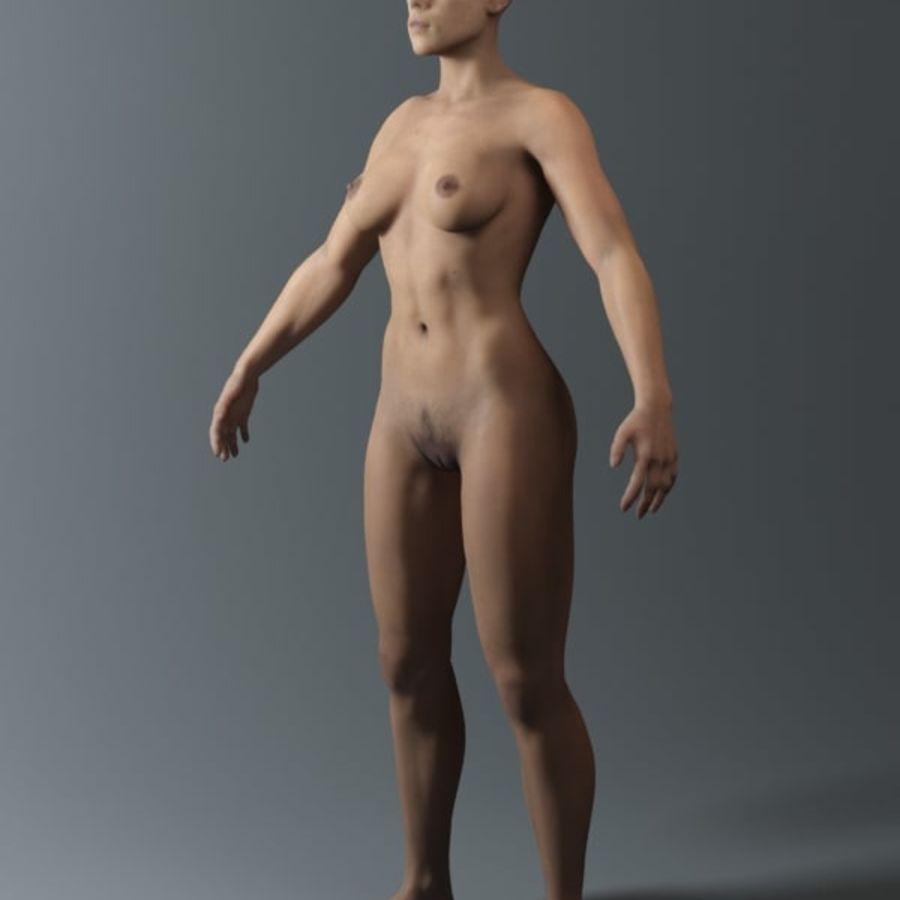 женщина royalty-free 3d model - Preview no. 8
