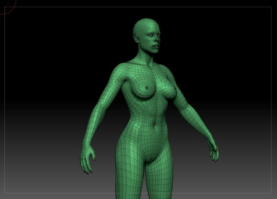 женщина royalty-free 3d model - Preview no. 28