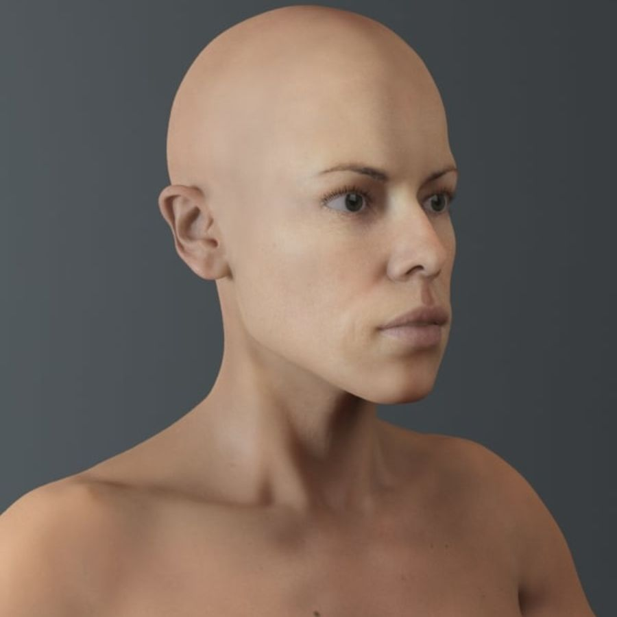 женщина royalty-free 3d model - Preview no. 6