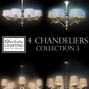 Charleston lighting and interiors 4 chandeliers/Col.3 3d model