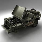 ABD Ordusu Willys Jeep 3d model