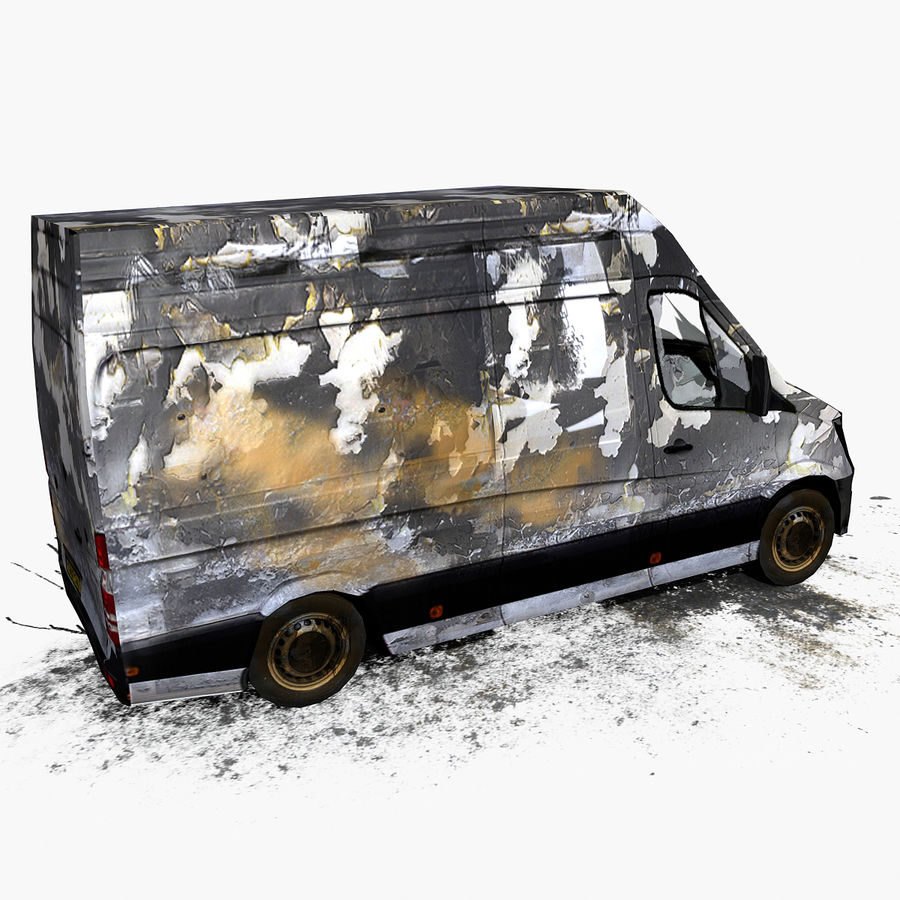 Vehículo destrozado royalty-free modelo 3d - Preview no. 8
