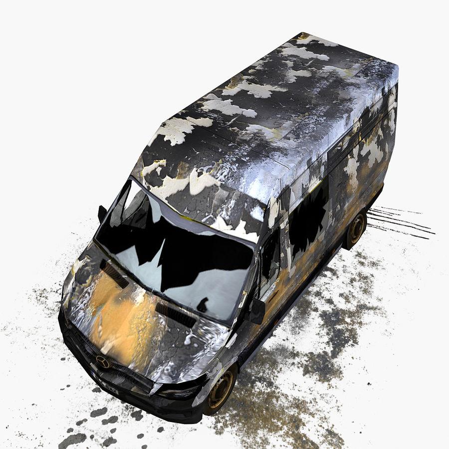 Vehículo destrozado royalty-free modelo 3d - Preview no. 3