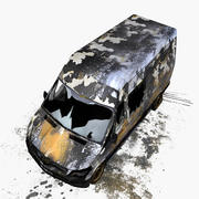 Rozbity pojazd 3d model