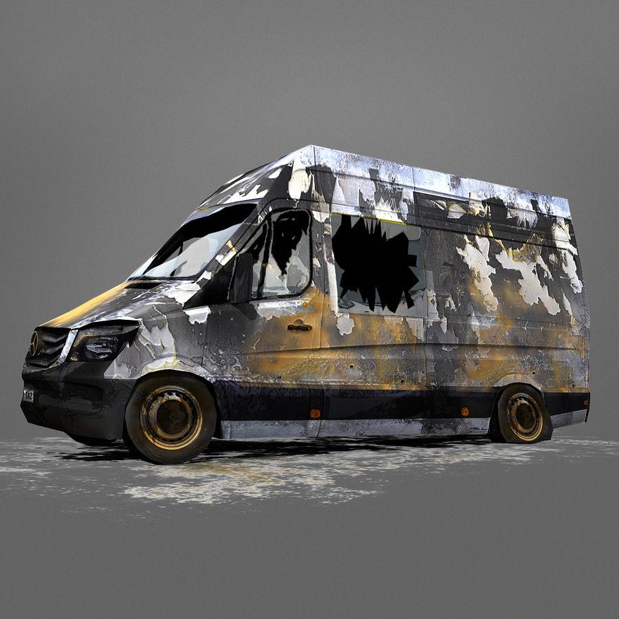 Vehículo destrozado royalty-free modelo 3d - Preview no. 2