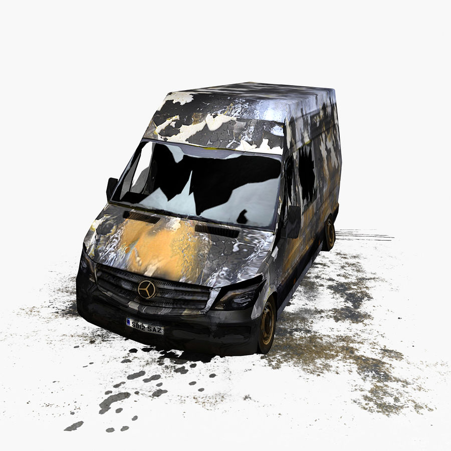 Vehículo destrozado royalty-free modelo 3d - Preview no. 4