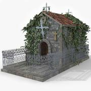 Edificio della cripta del cimitero 3d model