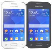 Samsung Galaxy Young 2 zwart en wit 3d model