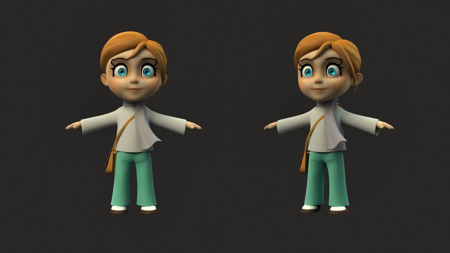 Chibi-Charakter royalty-free 3d model - Preview no. 2