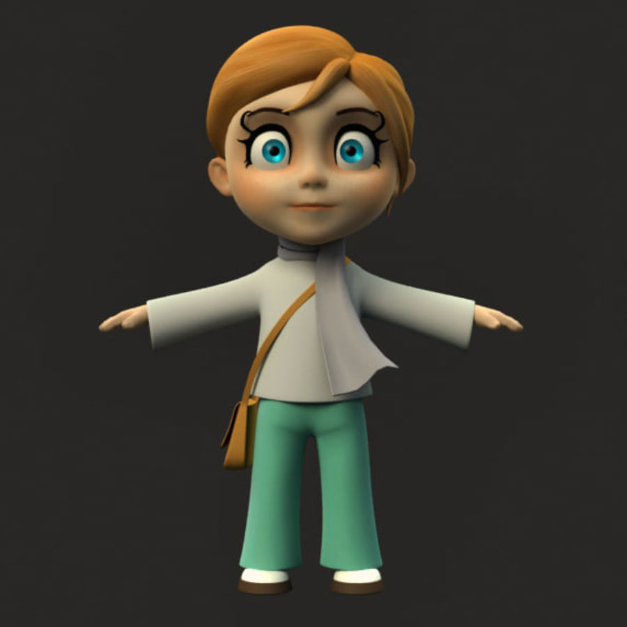 Chibi-Charakter royalty-free 3d model - Preview no. 1