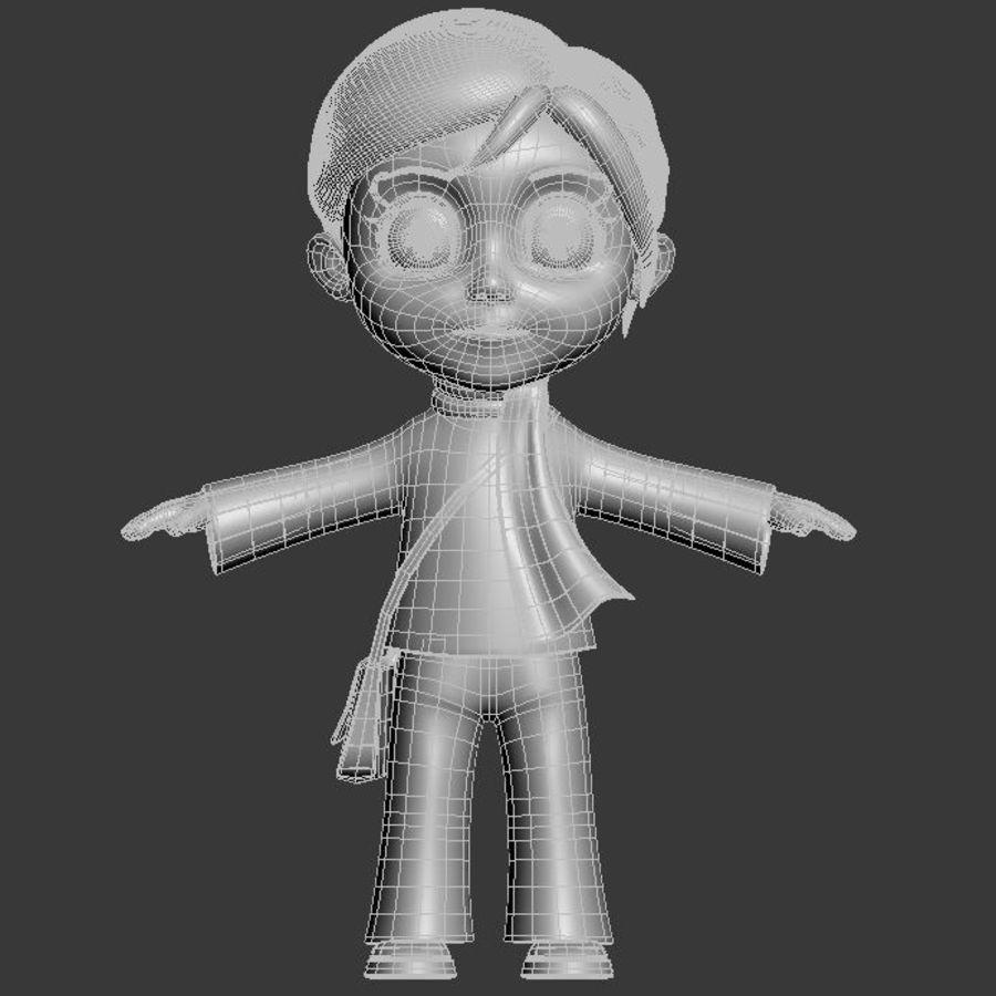 Chibi-Charakter royalty-free 3d model - Preview no. 5