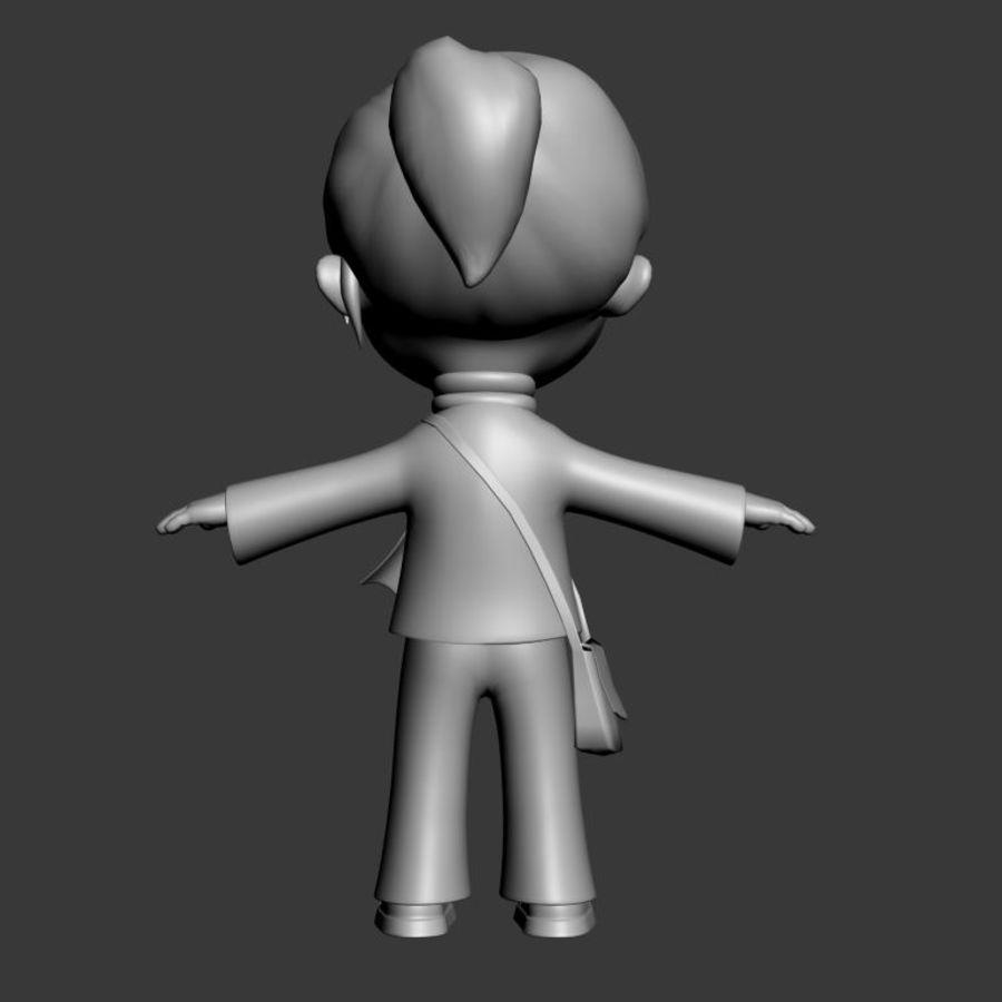 Chibi-Charakter royalty-free 3d model - Preview no. 6