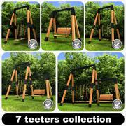 7 Teeters-collectie 3d model
