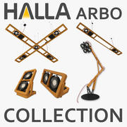 Halla Arbo-lampencollectie (5 items) 3d model