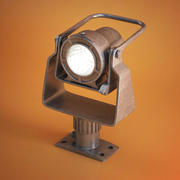 Industrielle Antiquitäten Lampe 3d model