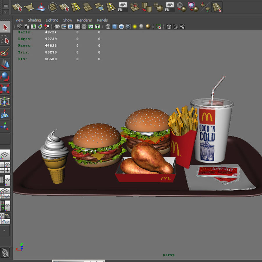 McDonald mellanmål royalty-free 3d model - Preview no. 8