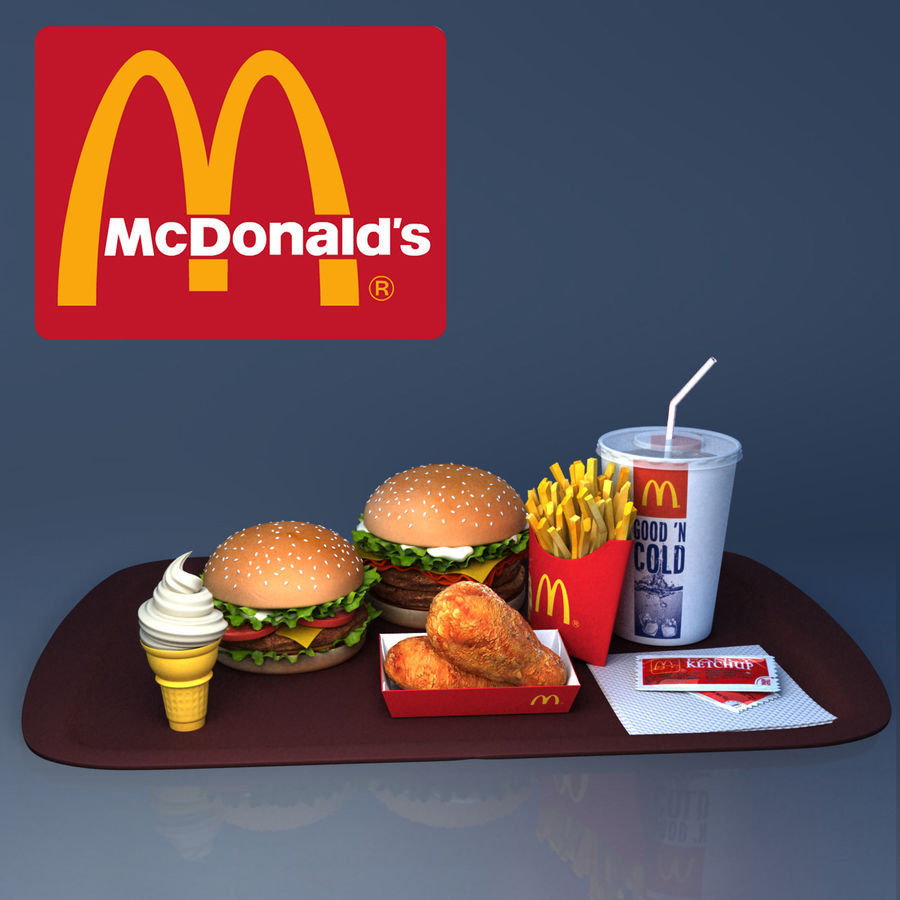 McDonald mellanmål royalty-free 3d model - Preview no. 1