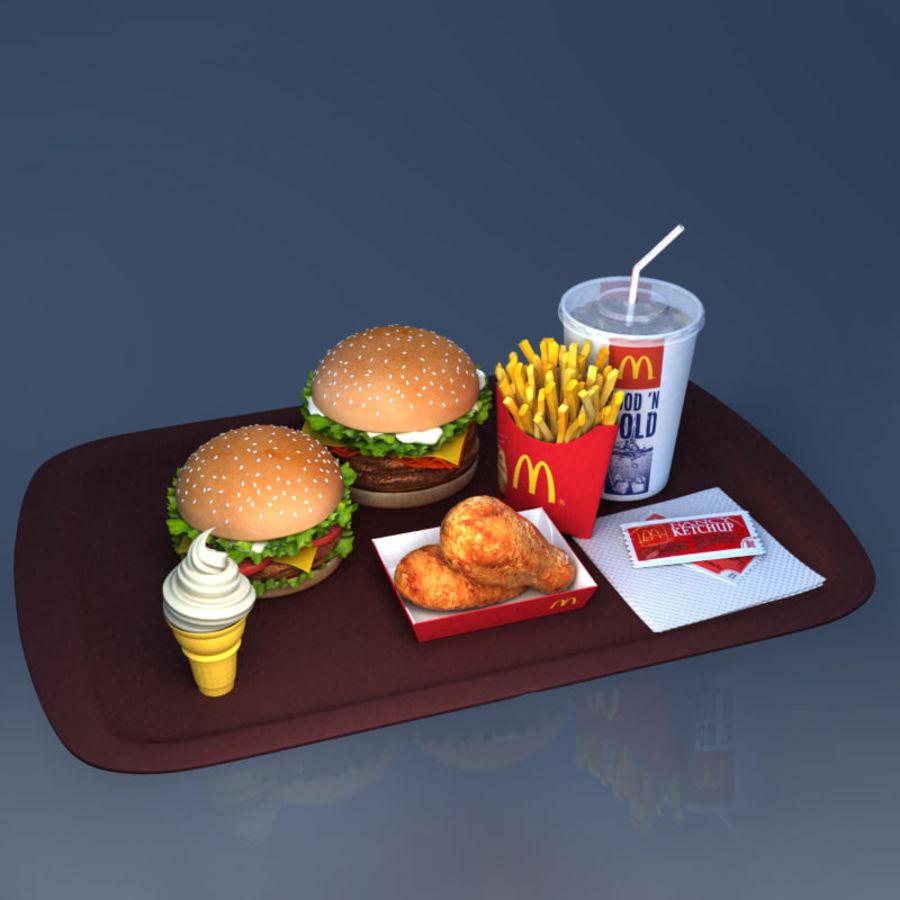 McDonald mellanmål royalty-free 3d model - Preview no. 2