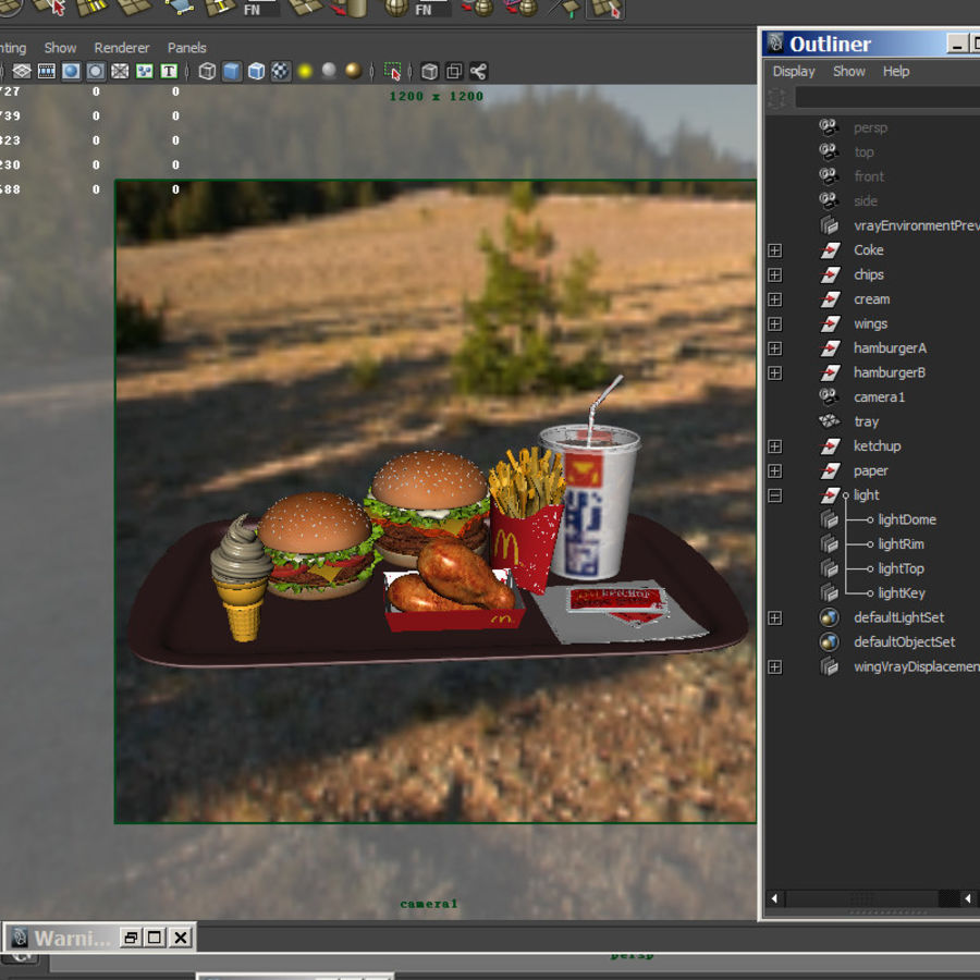 McDonald mellanmål royalty-free 3d model - Preview no. 9