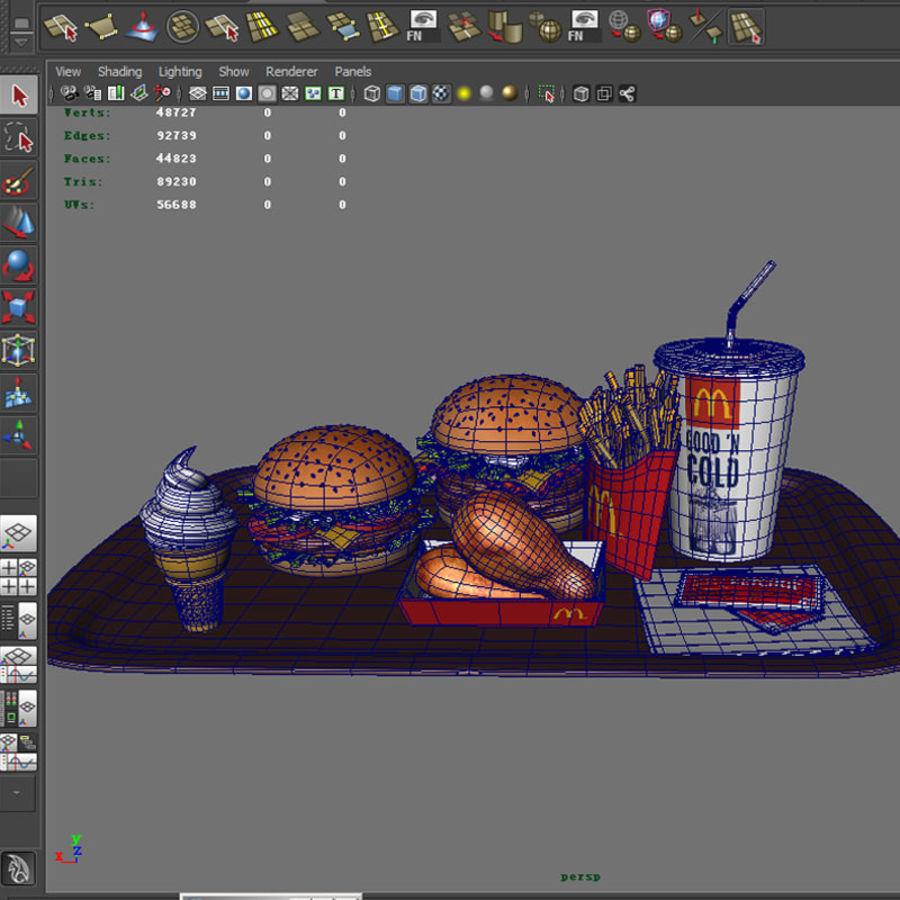 McDonald mellanmål royalty-free 3d model - Preview no. 10