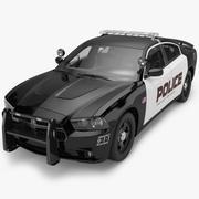 2012 Dodge Charger Police 3d model