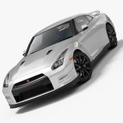 日产GT-R 2014 3d model