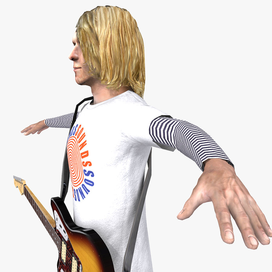 Kurt Cobain royalty-free 3d model - Preview no. 5