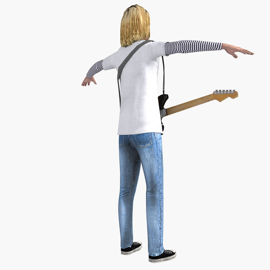 Kurt Cobain royalty-free 3d model - Preview no. 13